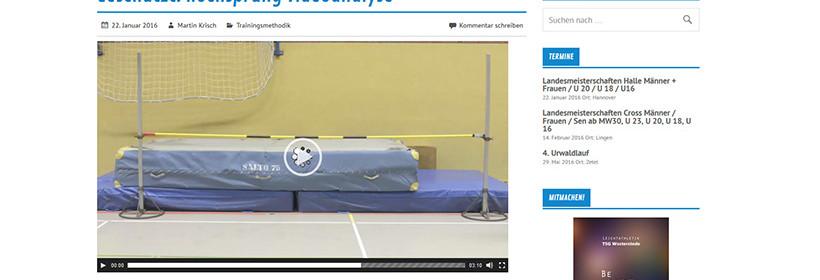 Leichtathletik Videoanalyse Hochsprung