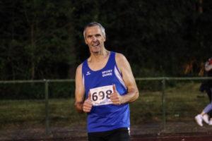 Heiner Lüers nach seinem 200m Lauf in Rekordzeit